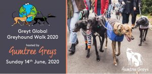 We are delighted to be hosting the Great Global Greyhound Walk 2020 on Sunday 14th June. The walk will be around the Botanical Gardens and we will publish the meeting point and route close to the time . Last year the Melbourne walk was joint largest in the world and this year we are aiming for No1! As we are expecting a lot of humans and hounds it's really important that you register through the Eventbrite event which you can link to via our ticket link here. The walk is free to attend and everyone is welcome! We can't wait to see you all there. Note: The global theme for the event on Sunday 14th June is the colour blue and people and hounds are encouraged to dress up whilst participating in the 100's of walks organised across the world.